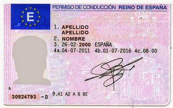 Resultado de imagen para licencias de conducir en España